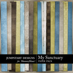 My Sanctuary Add On Paper Pack-$3.49 (Jumpstart Designs)