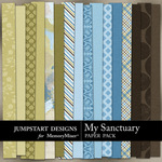 My Sanctuary Paper Pack-$3.49 (Jumpstart Designs)