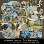 My Sanctuary Embellishment Pack-$2.99 (Jumpstart Designs)