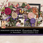 Emotions Flow Embellishment Pack-$3.49 (Laura Burger)