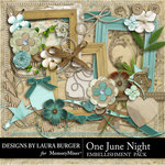 One June Night Embellishment Pack-$3.49 (Laura Burger)