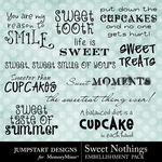 Sweet Nothings JD WordArt-$2.49 (Jumpstart Designs)