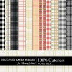 Cuteness Plaids Paper Pack-$3.49 (Laura Burger)