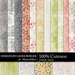 Cuteness Patterns Paper Pack-$3.49 (Laura Burger)