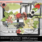 Cuteness Embellishment Pack-$3.49 (Laura Burger)