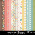 Bouquet of Flowers Paper Pack-$3.49 (Lindsay Jane)