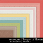 Bouquet of Flowers Embossed Paper Pack-$3.49 (Lindsay Jane)