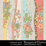 Bouquet of Flowers Borders-$1.99 (Lindsay Jane)