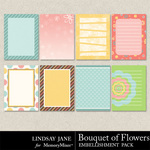 Bouquet of Flowers Journal Cards-$1.99 (Lindsay Jane)