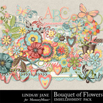 Bouquet of Flowers Embellishment Pack-$3.49 (Lindsay Jane)