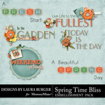 Spring Time Bliss WordArt-$2.49 (Laura Burger)