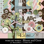 Bloom and Grow Combo Pack-$4.99 (Word Art World)