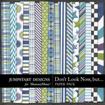 Dont Look Now But Paper Pack-$3.49 (Jumpstart Designs)