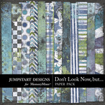 Dont Look Now But Grunge Paper Pack-$3.49 (Jumpstart Designs)