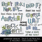 Dont Look Now But Titles-$2.99 (Jumpstart Designs)