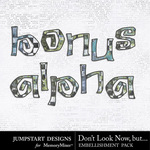 Dont Look Now But Bonus Alpha Pack-$0.99 (Jumpstart Designs)