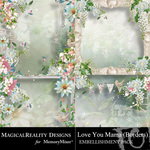 Love You Mama Borders-$1.99 (MagicalReality Designs)