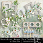 Love You Mama Cluster Frames-$1.99 (MagicalReality Designs)