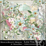 Love You Mama Embellishment Pack-$3.49 (MagicalReality Designs)