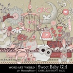 Sweet Baby Girl WAW Embellishment Pack-$3.29 (Word Art World)