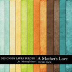 A Mothers Love Solid Paper Pack-$3.49 (Laura Burger)