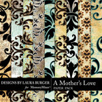A Mothers Love Flocked Paper Pack-$3.49 (Laura Burger)