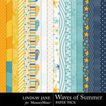 Waves Of Summer Paper Pack-$3.49 (Lindsay Jane)