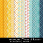 Waves Of Summer Patterned Paper Pack-$1.00 (Lindsay Jane)