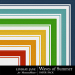 Waves Of Summer Embossed Paper Pack-$1.00 (Lindsay Jane)