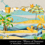 Waves Of Summer Borders-$1.99 (Lindsay Jane)