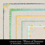 Waves Of Summer Edges-$1.00 (Lindsay Jane)