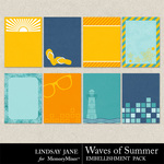 Waves Of Summer Journal Cards-$1.99 (Lindsay Jane)