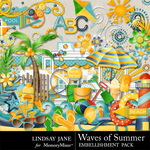 Waves Of Summer Embellishment Pack-$3.49 (Lindsay Jane)