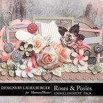 Roses Posies Embellishment Pack-$3.49 (Laura Burger)