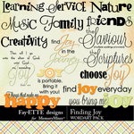 Finding Joy WordArt-$2.99 (Fayette Designs)
