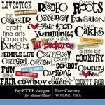 Pure Country WordArt Pack-$2.49 (Fayette Designs)