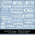 Pure Country WordArt Inkers-$2.49 (Ettes and Company by Fayette)