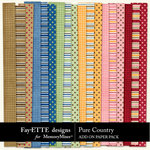 Pure Country Add On Paper Pack-$1.50 (Fayette Designs)