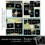 Pocket Template Set 2 QM-$4.99 (Albums to Remember)