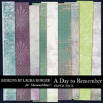 A Day To Remember Add On Paper Pack-$3.49 (Laura Burger)