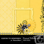 Formal Yellow Add On Mini Kit-$3.49 (Albums to Remember)