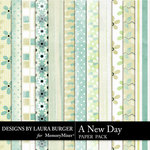 A New Day Patterned Paper Pack-$3.49 (Laura Burger)