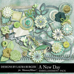 A New Day Embellishment Pack-$1.40 (Laura Burger)