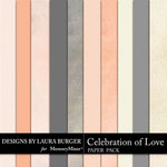 Celebration of Love Solid Paper Pack-$3.49 (Laura Burger)