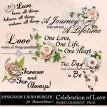 Celebration of Love WordArt-$2.49 (Laura Burger)
