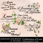 Celebration of Love WordArt-$2.49 (Laura Burger)