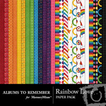 Rainbow Love AR Paper Pack-$3.99 (Albums to Remember)