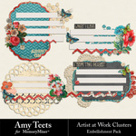 Artist At Work Clusters-$2.49 (Amy Teets)