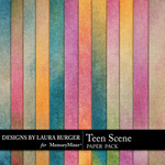 Teen Scene Gradient Paper Pack-$1.40 (Laura Burger)