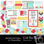 Call The Doctor Embellishment Pack-$3.00 (Melissa Nuttall)